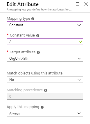 Provisioning Azure AD users into G  Suite Organizational